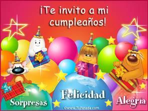 Invitación especial a cumpleaños