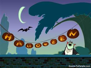 Imagen con vampiro de Halloween