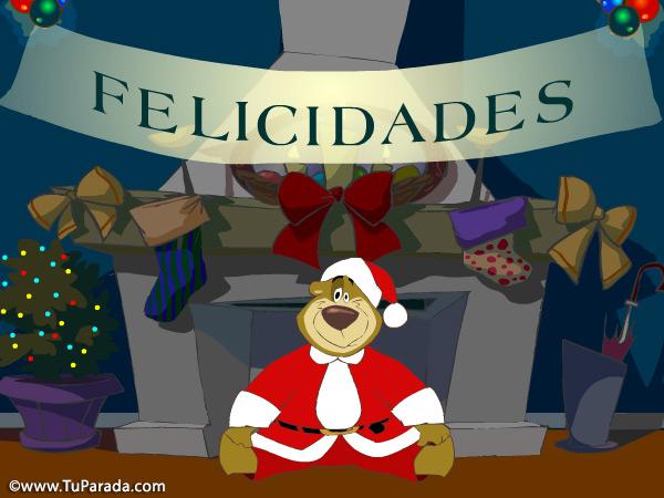 Tarjeta - Imagen oso de Navidad