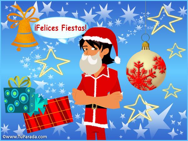 Tarjeta - Imagen vestido de Papá Noel