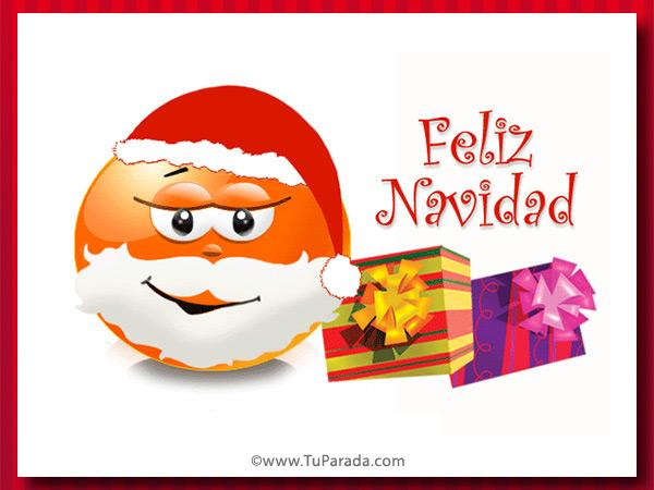 Tarjeta - Imagen con mensaje de Navidad