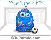 Me gusta jugar al fútbol