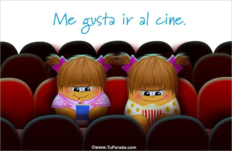 Tarjeta - Me gusta ir al cine