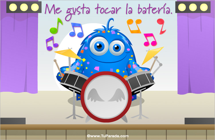 Tarjeta - Me gusta tocar la batería