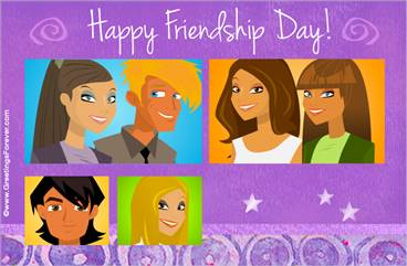 Happy friendship day ecard