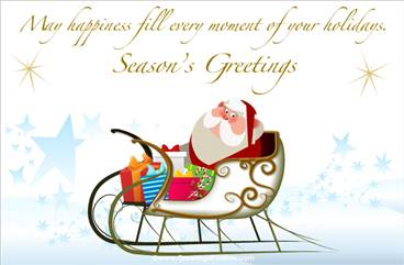 Santa Claus ecard for Christmas