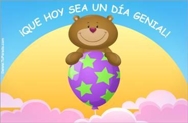 Tarjeta de Día del niño