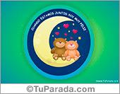 Tarjeta de osos: Cuando estamos juntos soy muy feliz.