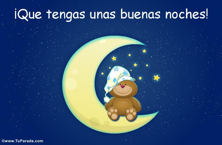 Tarjeta - Que tengas unas buenas noches con oso