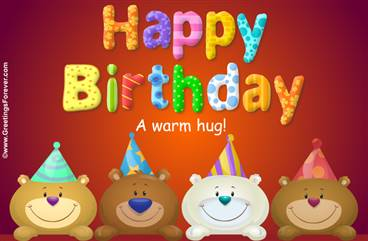 Birthday bears ecard