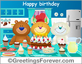 Birthday party ecard