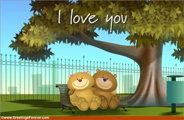 I love you bears ecard