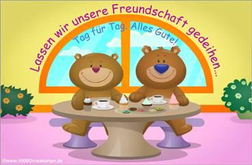 EKarte Freundschaft mit Bären