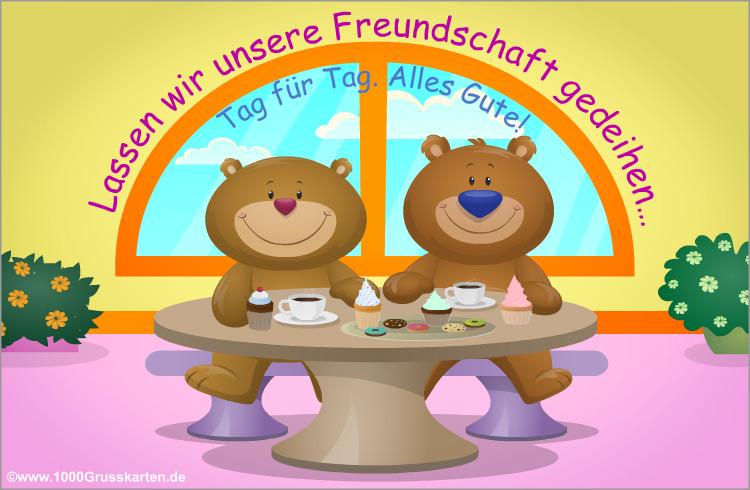 E-Card - EKarte Freundschaft mit Bären
