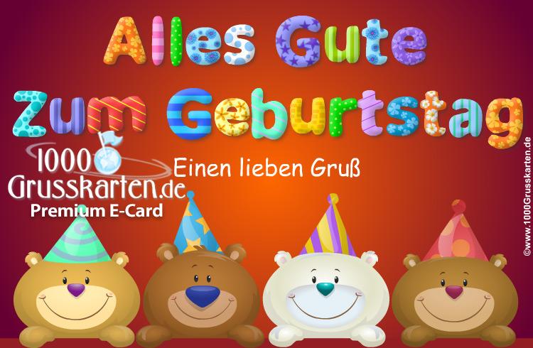 Baren Geburtstags Ekarte Freundliche Baren E Cards
