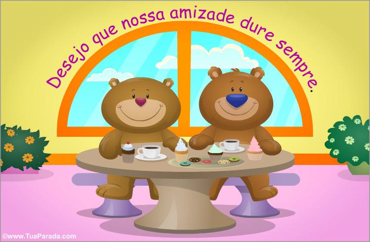Cartão - Cartão de amizade com ursos