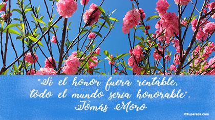 Tarjeta de Tomás Moro