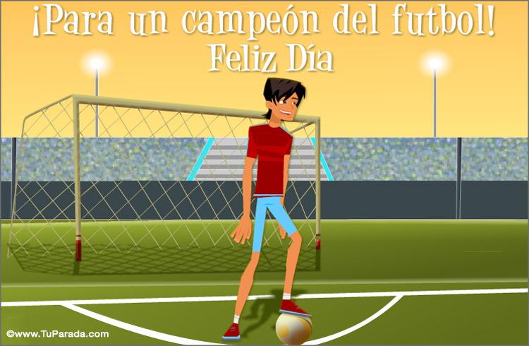 Tarjeta - Tarjeta para un futbolista