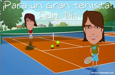 Tarjeta para un tenista