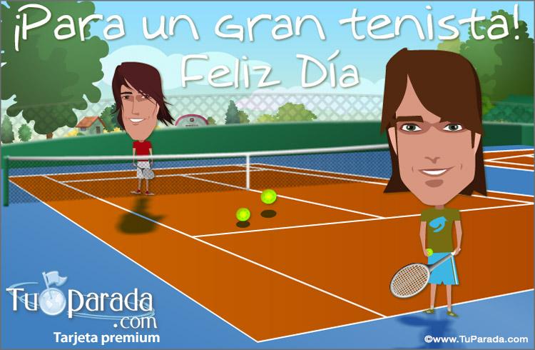 Tarjeta - Tarjeta para un tenista
