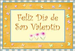 San Valentin con guarda amarilla