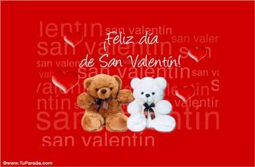 San Valentin con oso marrón