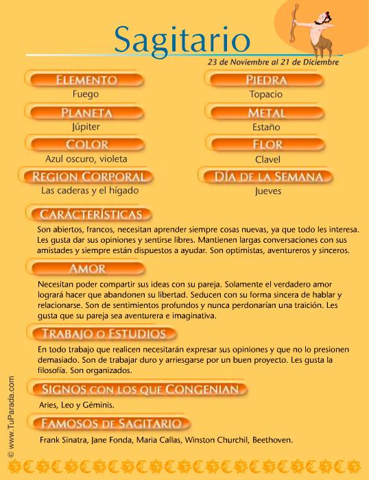 Sagitario Signo Del Zodíaco Sagitario Características Del Signo