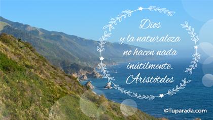 Dios y la naturaleza