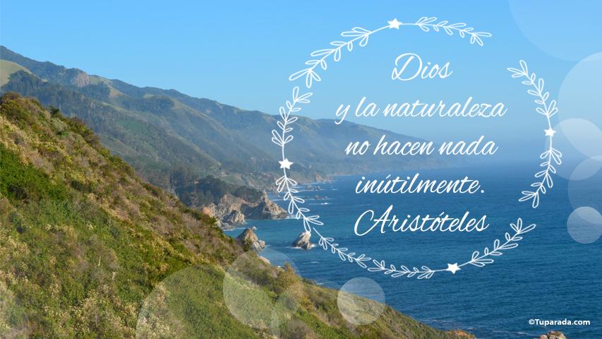 Tarjeta - Dios y la naturaleza