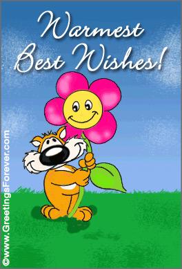 Tarjeta - Best wishes
