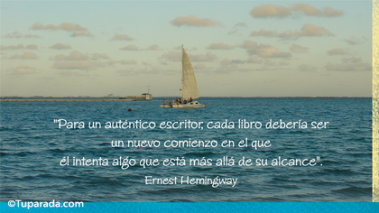 Tarjeta de Ernest Hemingway