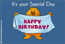 Your special day ecard