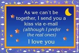 A kiss via e-mail