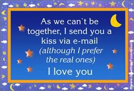 A kiss via e-mail