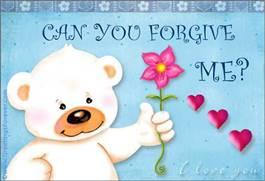 Forgive me ecard