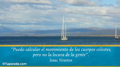 Tarjeta de Isaac Newton