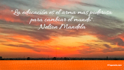 La educación cambia el mundo