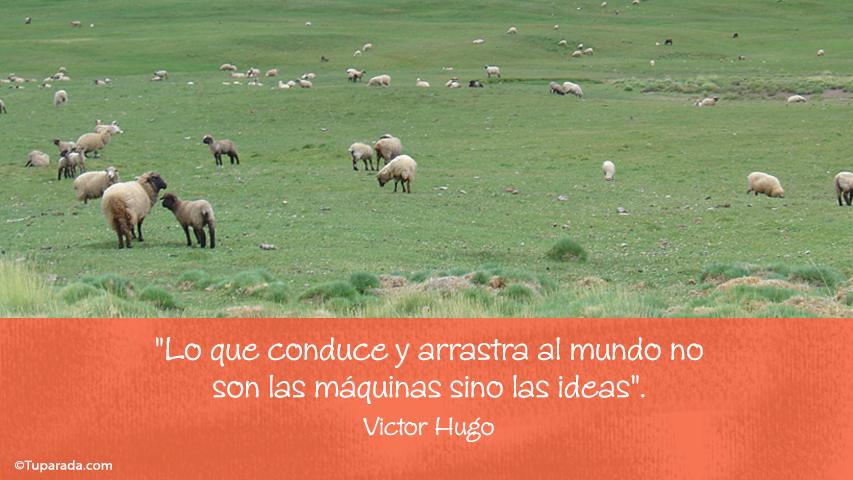Tarjeta - Las ideas por Victor Hugo