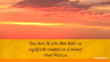 Tarjeta de Henri Matisse