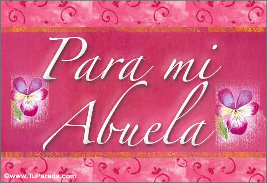 Tarjeta Para Mi Abuela Tarjeta Para El Día De La Abuela Postal