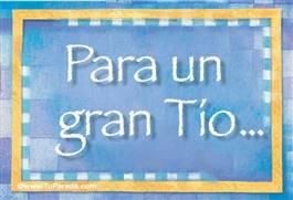 Tarjetas, postales: Tíos