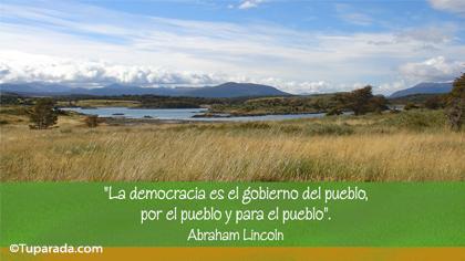 La democracia es por el pueblo