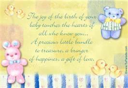 Special baby ecard