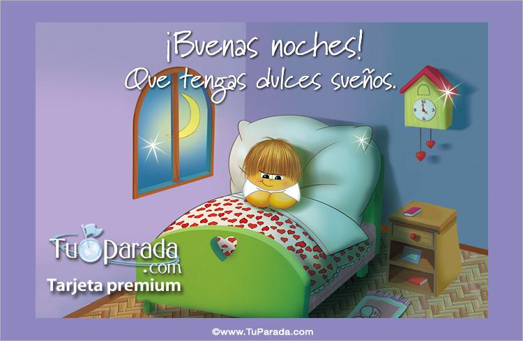 Tarjeta - Buenas noches y dulces sueños