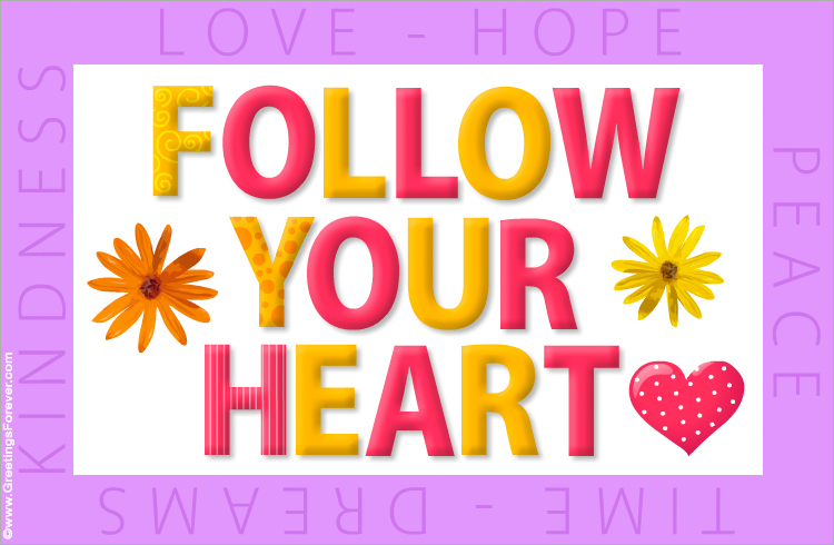 Ecard - Follow your heart