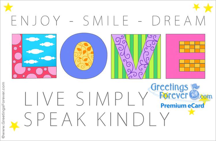 Ecard - Love, live simply