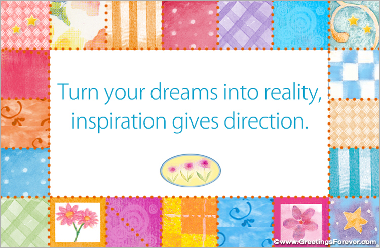 Ecard - Turn your dreams into reality
