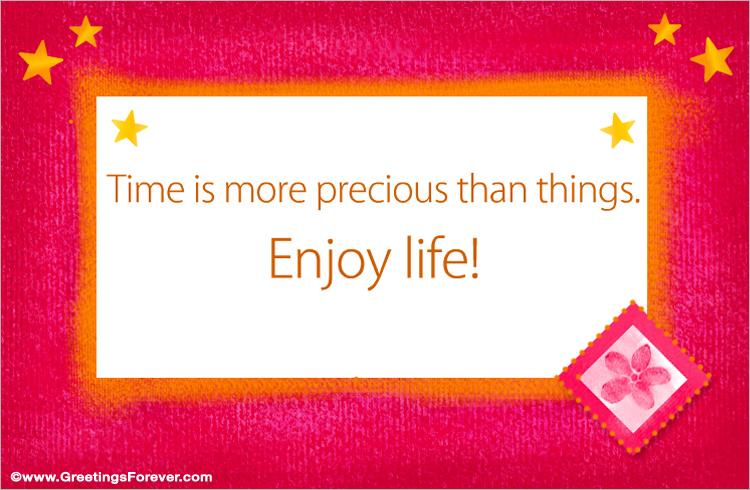 Ecard - Enjoy life!