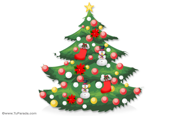 Tarjeta - Para manualidades con pinos navideños
