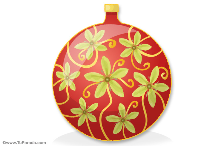 Tarjeta - Adorno para el árbol de Navidad